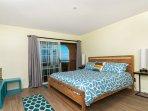 master bedroom king size bed, ocean view