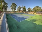 Compete with friends in a game of tennis.