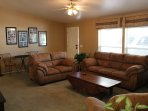 Large Living Room with Cable TV, Pull out Queen Bed.
