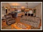 living room: queen sofa sleeper