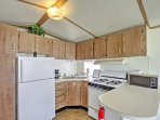 Whip up tasty, home-cooked treats in the fully equipped kitchen.