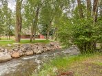 Cottonwood Creek is rushing right through your backyard!