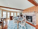 And this beautiful dining room with views of Nantucket Sound.