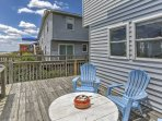 You'll love spending time on the beachfront deck!