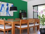 Large indoor dining table for 10 persons