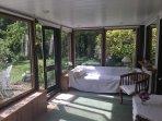 Spacious sun room
