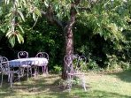 Dining alfresco in the garden