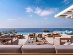 The pool terrace epitomises the concept of summer!