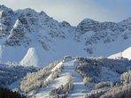 Pistes de ski des Claux vue du chalet