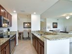 Kitchen opens up to the main living area, which makes entertaining family and friends easy.