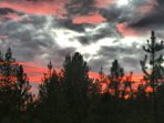 Montana sunset from the front deck