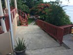 Walk Way to Beach and Apartments