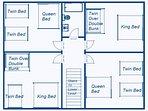 Main House - Upper Level #2 Floor Plan