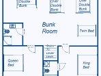 Main House - Upper Level #1 Floor Plan