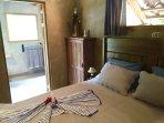 Casa Bejuco bedroom with ensuite bathroom