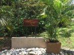 Puri Mas entrance at the pubic road