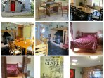 Collage of photos of various rooms at Knockaderry House