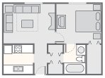 1 BD Suite Floor Plan