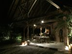 A romantic evening at the main house of Puri Mas