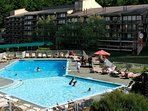 Soak in the sun, the pool or the all-year hot tub.