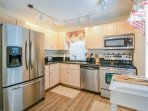 2nd level, fully equipped kitchen with stainless steel appliance and dining for 2.