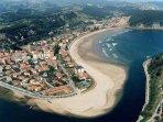 Vista aérea playa Santa Marina