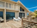 Additional oceanfront deck to relax and take in the Florida sunshine.