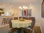 Dining area with seating for 4.