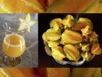 Fresh star fruit juice