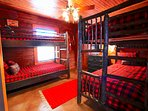 Great retreat for the kids.  2 sets of bunk beds.  Yes 4 twins