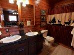 Lots of bathrooms Dual sinks