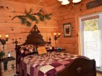 2nd bedroom Queen bed with french doors leading to your private deck