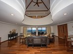 Elegantly designed ocean view living area!