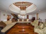 Fabulous living area with hardwood floors!