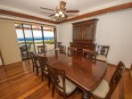 Elegant ocean view dining area with plenty of seating!