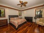 Elegant bedroom with brazilian hardwood floors!  All 7 brs have baths!