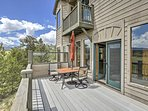 Step outside to the massive back deck.