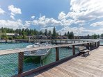 Boat docking available with prior reservation