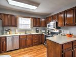 Prepare family feasts with ease in the fully equipped kitchen.