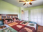 This bedroom also provides a comfortable king-sized bed.