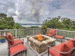 Sit around the fire pit and revel in deep conversation while enjoying the views.