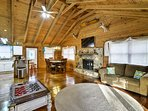 Relax in the rustic living area with the flat-screen Smart TV or free WiFi.
