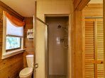 The master bedroom has access to this full en-suite bathroom.