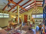 You'll love the open beam ceilings!
