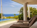 Lounge Pool Side With Ocean Views