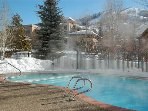 Heated pool and spa- ideal for a relaxing swim or soak year round