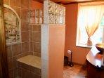 upstairs bath with sitdown shower