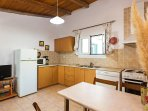 Open-plan fully equipped kitchen
