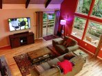 Living room with 65' SMART HDTV