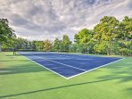 Challenge your travel companions to a game of tennis at the community courts.